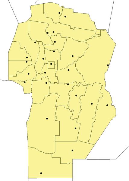 Mapa Provincia De Cordoba Politico.Mapa Politico De Cordoba Y Alrededores Provincia De Cordoba